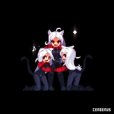 Cerberus #Helltaker #pixelart Work process : http://patreon.com/aduarepic.twitter.com/uvn9iCeeMZ