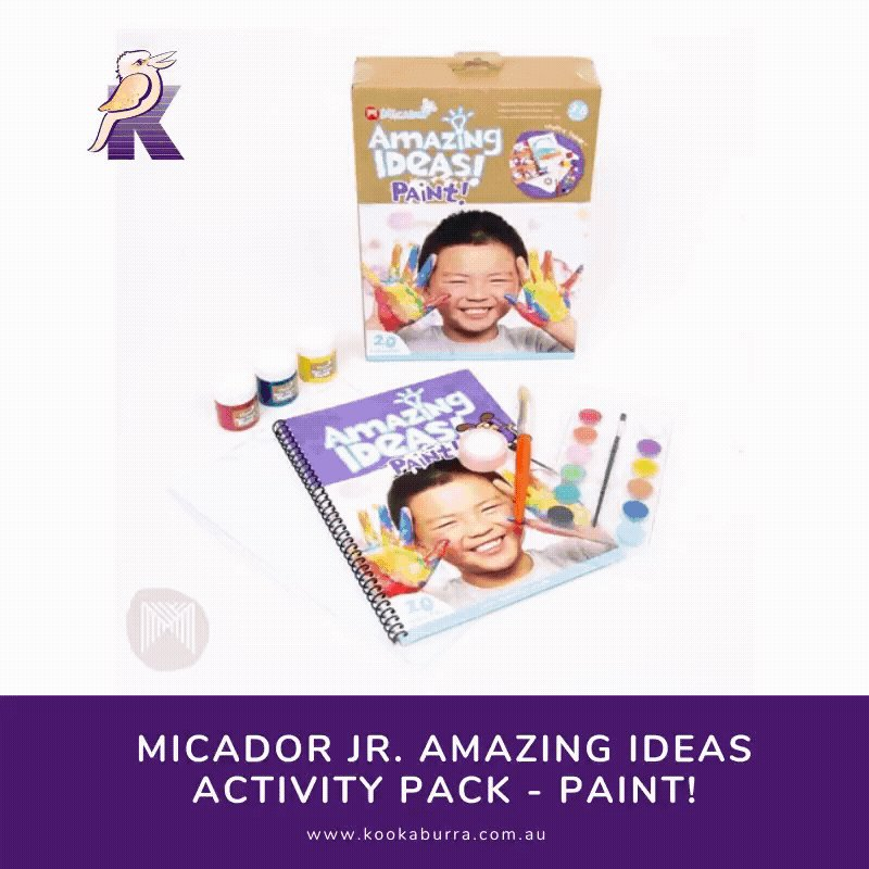 @micador Jr.'s Amazing Ideas #Activity Packs have got you covered these school #holidays!   With a variety of coloured #cards and #clay, plus an abundance of modelling tools and #craft sticks, the days will fly by with the #Make! pack.  #KookaburraEducationalResources #Art