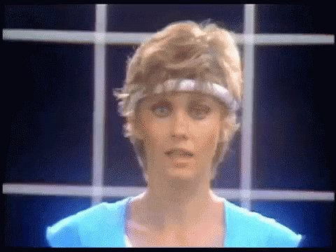@tonyposnanski (Stares at you Olivia Newton Johnly) Rise and shine. Aerobics aren't going to do themselves.