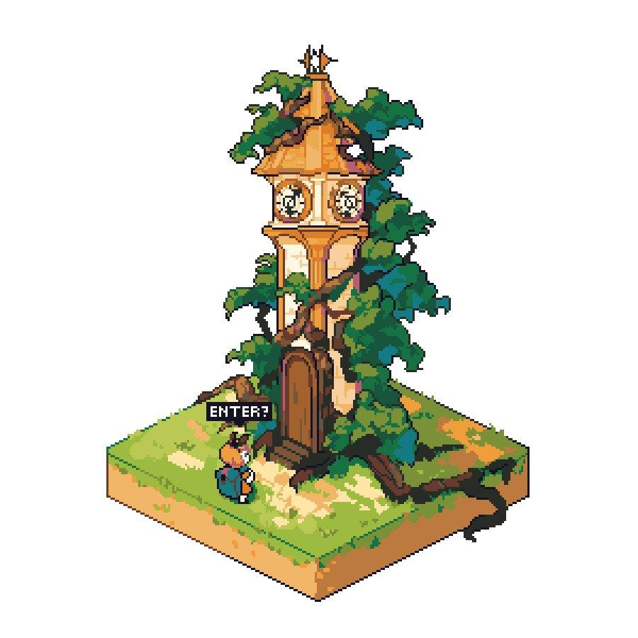 enter the clock tower? #pixelart #ドット絵pic.twitter.com/ijWFDWwdu4