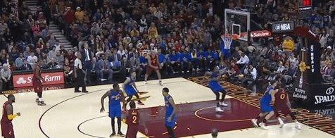 2016: @Rjeff24 (36) dunks on @KlayThompson!  #WholeNewGame #NBATogether #NBATwitter #TheJump #JumpFromHome #BeTheFight https://t.co/fpQ3b63IKd