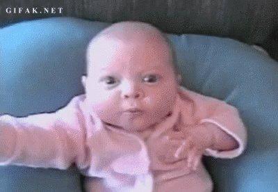 Baby Wide Eye GIF