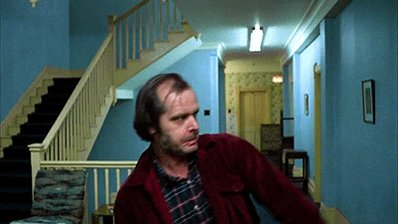 Monday knocking on the door like...  But don't worry! You've got this. Ease in to your Monday with our #TheShining collection.     #theshining #heresjohnny #inspired #collection #lonepineapparel