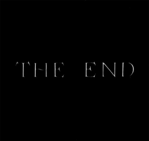 the end black and white gif GIF