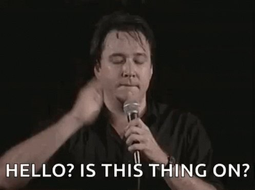 Bill Hicks Mic Tap GIF