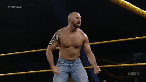 .@ONEYLORCAN WANTS TO THROW EM UP!!  #WWENXT #TimothyThatcher https://t.co/Rl9noYQiEM