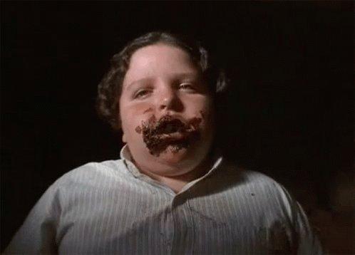 Fat Kid Eating GIF