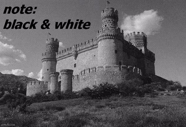 Is this castle in black & white? Check better after 15 seconds and learn why you see colors due an afterimage https://t.co/9tBkgV8lmu [source of the gif, by John Sadowski: https://t.co/Yi5fFCMjRi] https://t.co/VlM6sphPJx