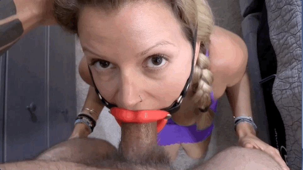 Forced open mouth gag