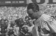 Lou Gehrig Luckiest Man GIF