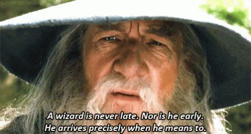 Gandalf AWizard Is Never Later GIF