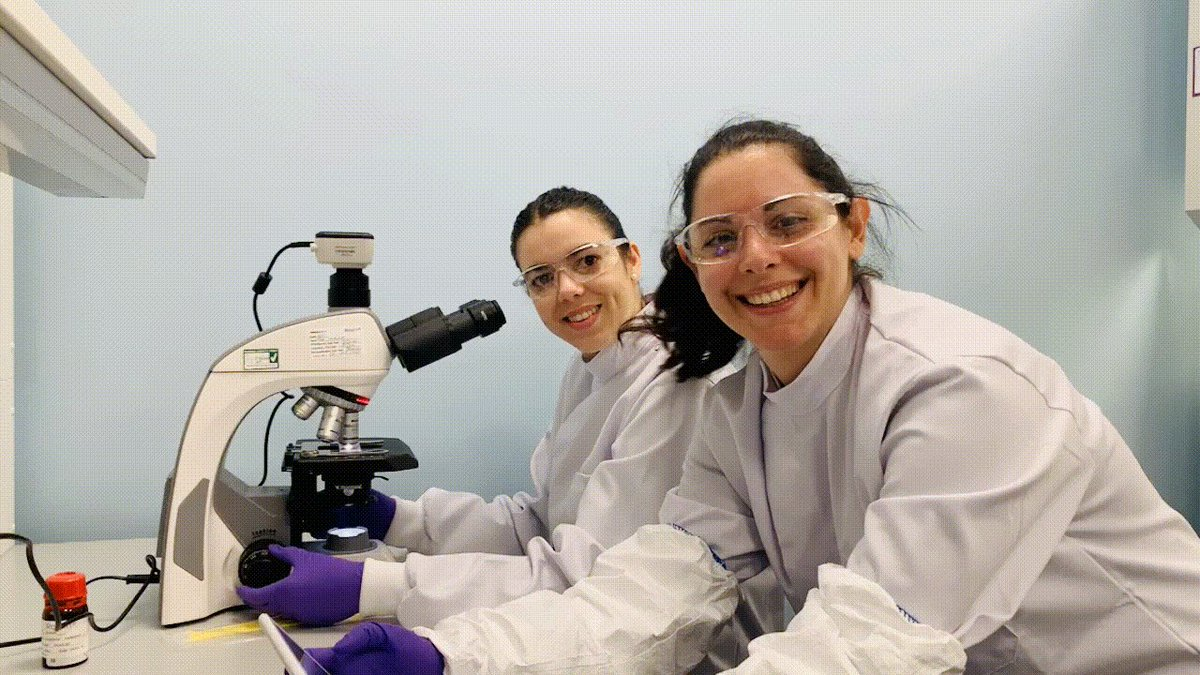 Who Says Science Can't Be Fun?  Here, our Quality Control girls, have got that Friday Feeling while performing their regular environmental testing🔬   #FridayFeeling #ScienceUnlocked  #ChooseScience #CellandGeneTherapy https://t.co/7W8aoqf7on