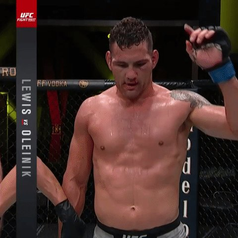 He's BACK! @ChrisWeidman takes home the UD win at #UFCVegas6! https://t.co/U9PWmAzdZl