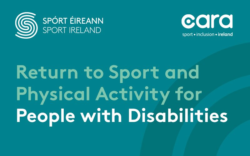The Return to Sport Guidelines for People with Disabilities, prepared with support from @CaraCentre_ie aim to ensure a safe and inclusive return to sport for people with disabilities.   ➡️ https://t.co/4YeIZ5wDtI  #InThisTogether https://t.co/U4ry3KZRuT