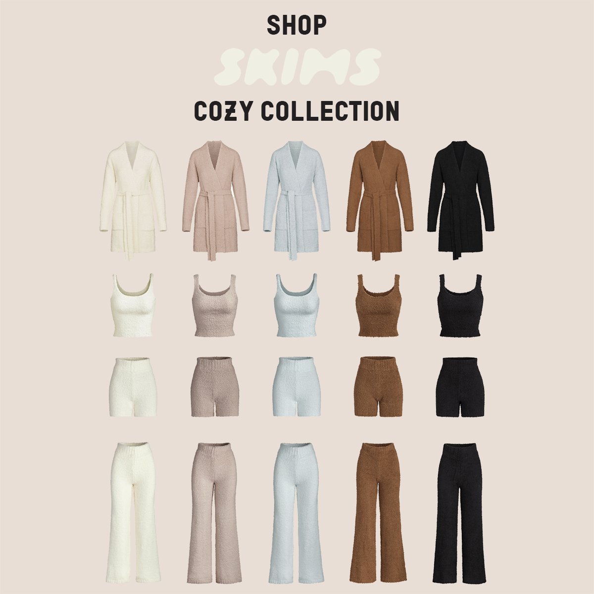 Shop @SKIMS Cozy Collection + New Short Robes now only at https://t.co/DexaxI8UAI https://t.co/jLwedAN41R