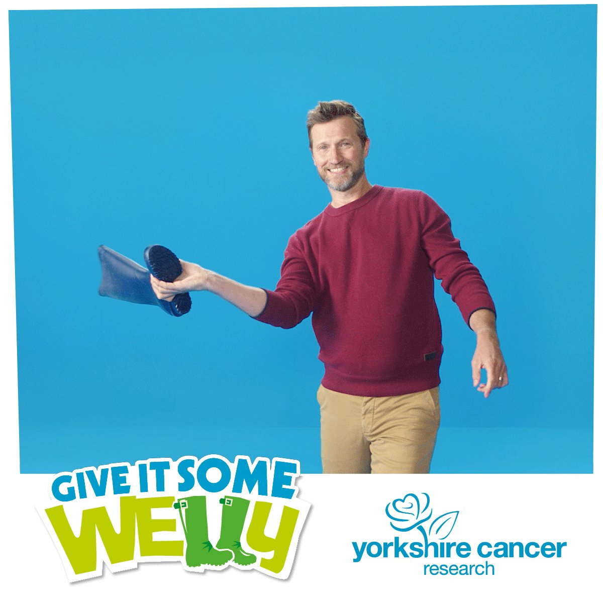 There's just one day to go! Join us tomorrow as we attempt to set a new virtual welly wanging world record this Yorkshire Day. We'll see you at 2pm tomorrow to set a new world record!  @YorksSociety #GiveItSomeWelly