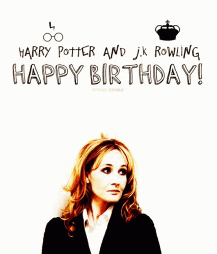 La mejor saga de todas!!!  Happy birthday Harry Potter  y a J.K Rowling