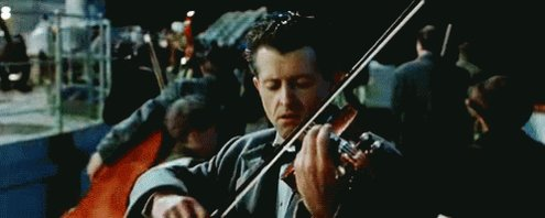Titanic Playing Violin GIF