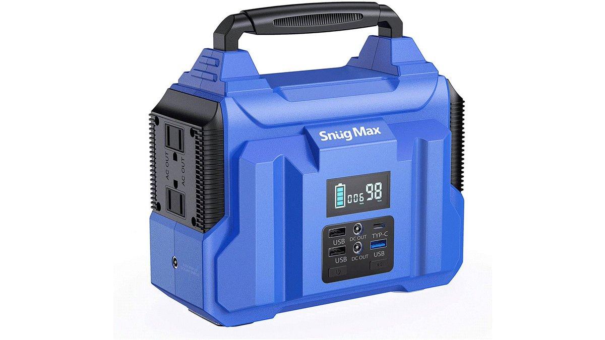 SNUGMAX 60000mAh/222Wh ポータブル電源 販売開始初販6000円OFFクーポン配布中入手先:緊急時の余裕を増やす、PD45W QC3.0共に対応