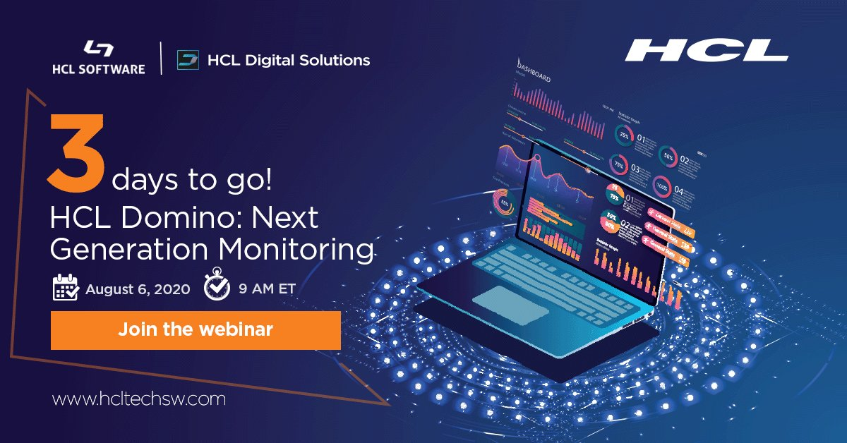 Imperdível !!! #HCLDomino monitoring Webinar. #HCLDigital #HCLSoftware https://t.co/3KBz4idcmj