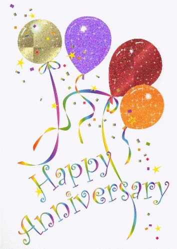 Happy Anniversary Balloon GIF