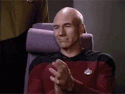 Patrick Stewart Captain Picard GIF