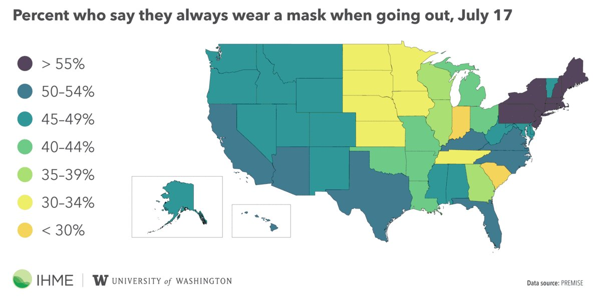 Image for the Tweet beginning: 😷 Use of masks is