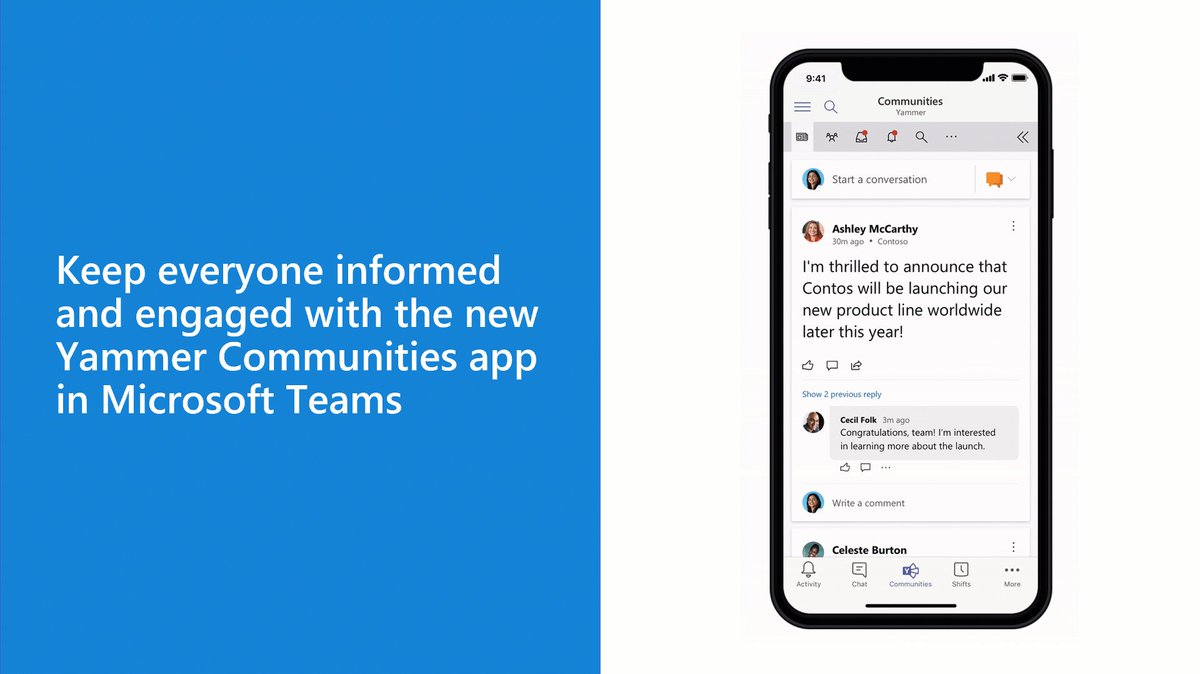 Image for the Tweet beginning: The #Yammer Communities app for