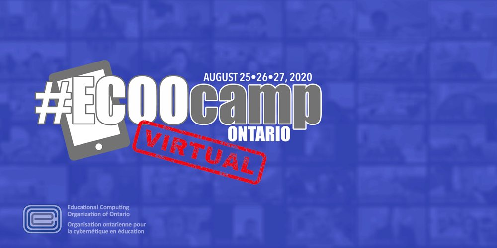 #ECOOcampON virtual conference is August 25-27.  • 135+ presenters • 100+ sessions • Keynotes by @JennyKayDupuis @JulietWaters @tbydaniel  • Vendors Playground • Door Prizes  • #VirtualSwagBag   https://t.co/6cKsduCrDn