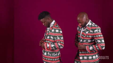 Merry Christmas Reaction GIF by OppoSuits