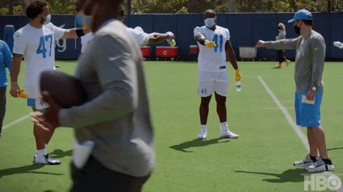 'Everybody bring it in...but not that close.' #HardKnocks | @chargers