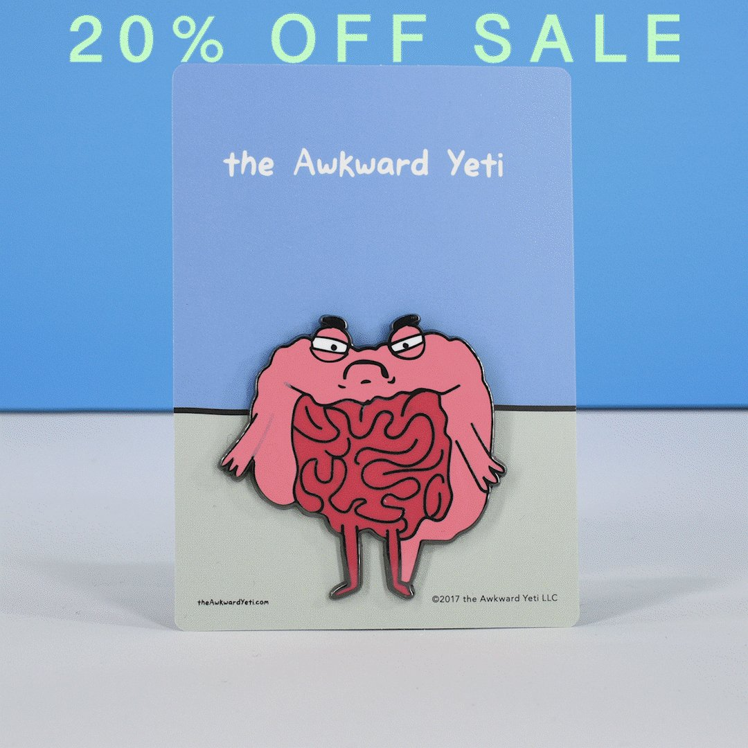 20% off everything at theAwkwardStore.com! (Only for a few days!)