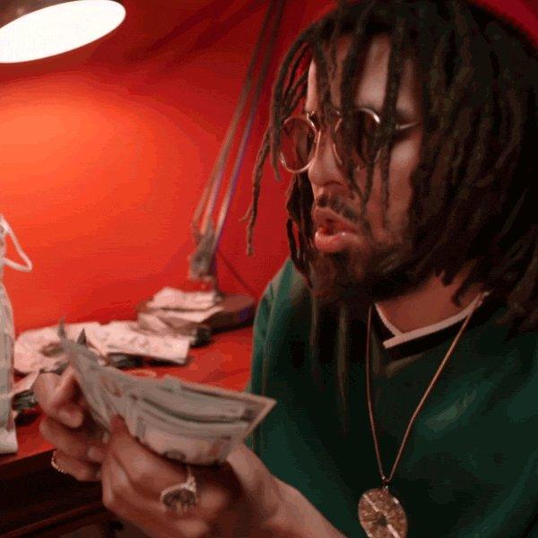 money cash GIF by J. Cole