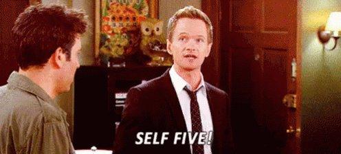 Self Five - Confident GIF