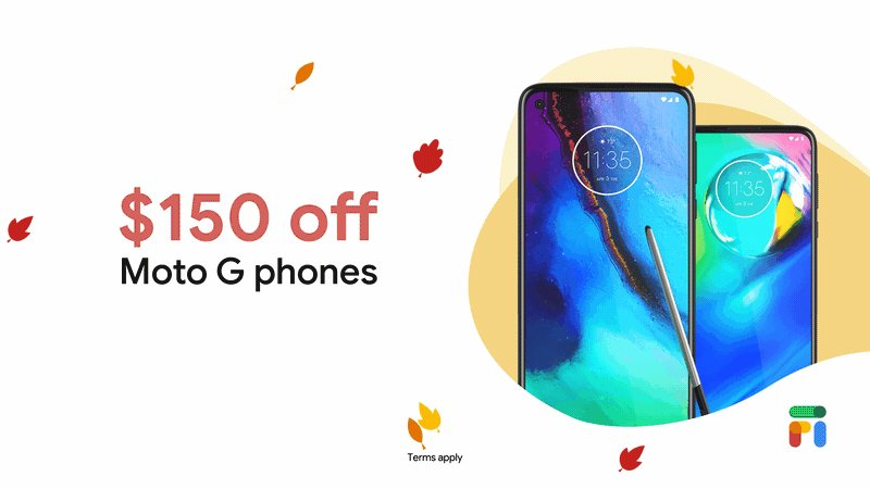 Snag a new Motorola phone for fall — at a price you won't be-leaf. 🍂  For a limited time, the #MotoGPower is $99 and the #MotoGStylus is $149. Get yours today →
