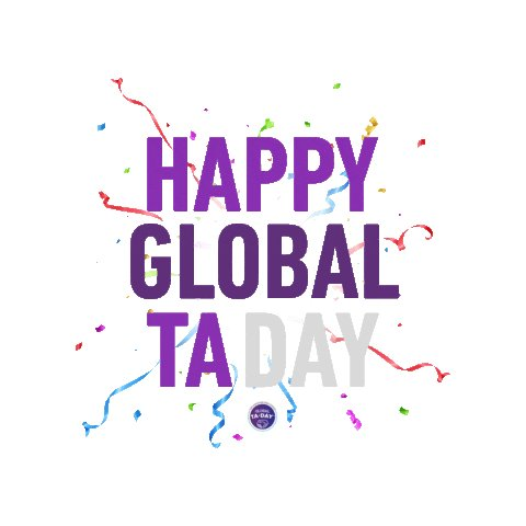 Image for the Tweet beginning: Today is #GlobalTADay! Helping my