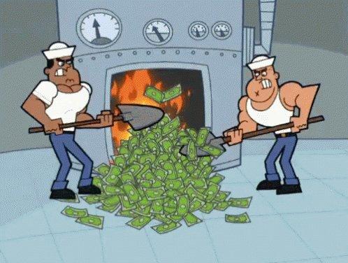 Burning Money GIF
