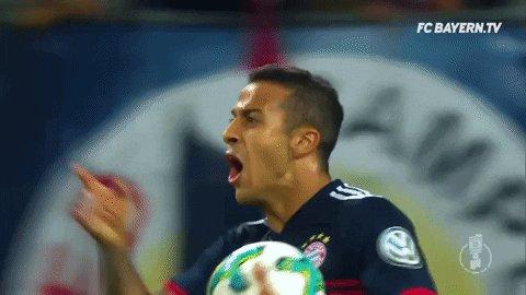 happy thiago alcantara GIF by FC Bayern Munich