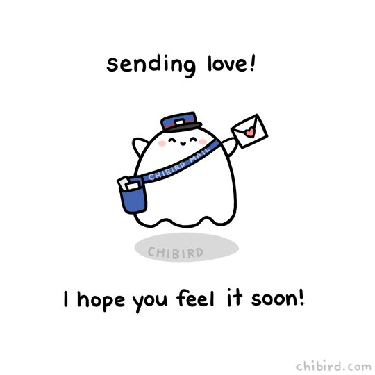 Sending Love Letter GIF by Chibird