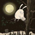 月見バーガーを食らうウサギさん!思ってたのと違ったけど可愛すぎる!