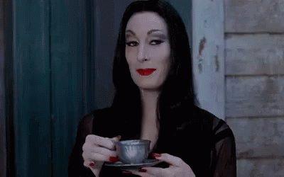 Even Goths Spill The Tea Hunty GIF
