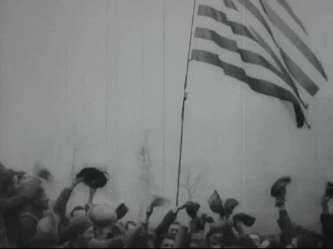 american flag vintage GIF by US National Archives