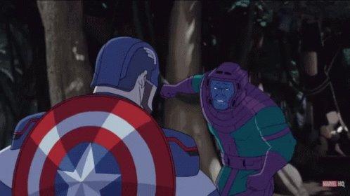 Captain America Kang GIF