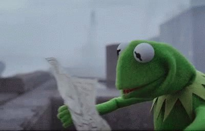 Kermit The Frog Looking For Directions GIF