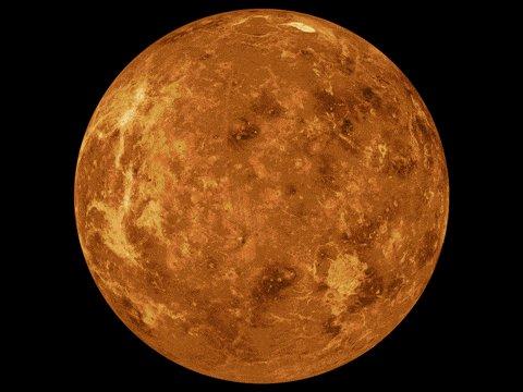 Gif showing rotating Venus