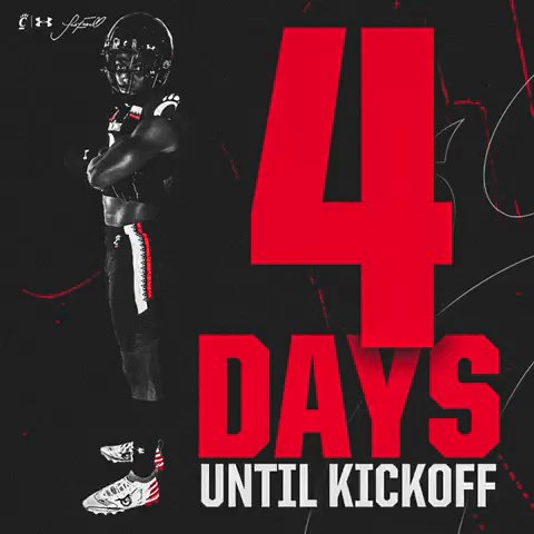Four more.  𝗖𝗢𝗨𝗡𝗧𝗗𝗢𝗪𝗡 𝗧𝗢 𝗞𝗜𝗖𝗞𝗢𝗙𝗙 Presented by @SuperiorCUInc  #Bearcats https://t.co/oF0Noxo7Bx