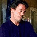 Robert Downey Jr Face Palm GIF