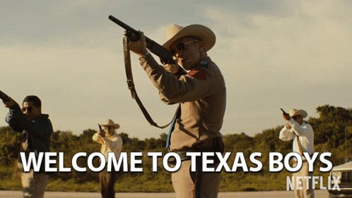Welcome To Texas Boys Point Gun GIF