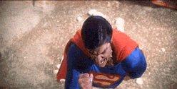 angry superman GIF