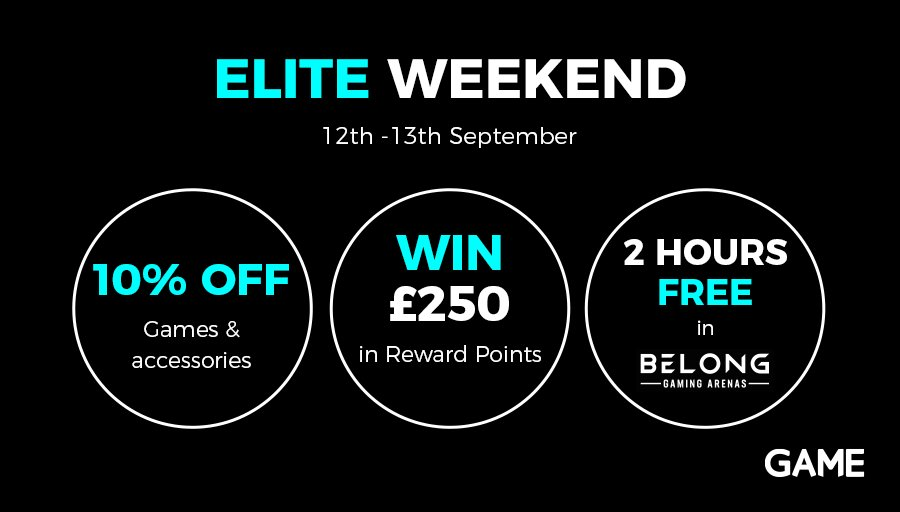 Are you GAME Elite yet? Check out the amazing offers  this weekend for Elite customers! If you're not, join now for £3 a month, or £33 for a year and start saving (and earning) with us #GAME https://t.co/L5DAZT1ZfI